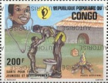 [Inscribed below REPUBLIQUE DU CONGO Overprinted