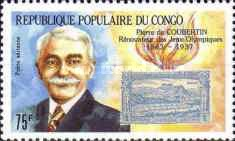 [Airmail - The 50th Anniversary of the Death of Pierre de Coubertin (Founder of Modern Olympic Games), 1863-1937, Typ APM]