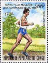 [Airmail - Olympic Games - Seoul, South Korea - Modern Pentathlon, Typ AQH]