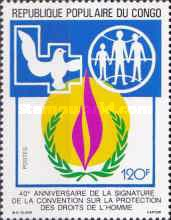 [The 40th Anniversary of Declaration of Human Rights, Typ AQX]