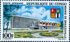 [Airmail - Town Hall, Brazzaville and Arms, Typ BJ]