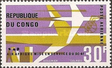 [Airmail - Inauguration of DC-8F Air Services, type DB]