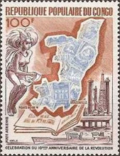 [Airmail - International Stamp Exhibition - Brazzaville, and the 10th Anniversary of Revolution, Typ NX]