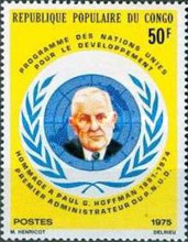 [The 1st Anniversary of the Death of Paul G. Hoffman (U.N. Programme for Underdeveloped Countries Administrator), 1891-1974, Typ QL]