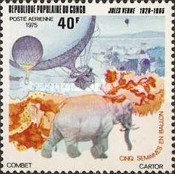 [Airmail - The 70th Anniversary of the Death of Jules Verne (Novelist), Typ QP]