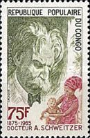 [The 100th Anniversary of the Birth of Dr. Albert Schweitzer, 1875-1985, Typ RW]