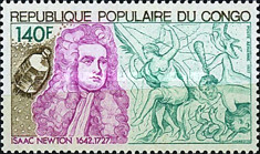 [Airmail - The 250th Anniversary of the Death of Isaac Newton, 1643-1727, Typ VP]