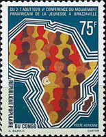 [Airmail - The 5th Pan-African Youth Conference, Brazzaville, type ZO]