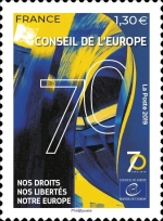 [The 70th Anniversary of the Council of Europe, type AE]
