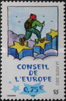 [Hiker on Stars Caricature, type N]