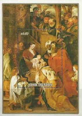"""[Christmas - Details from """"Adoration of the Magi"""" by Rubens, type ]"""