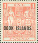 """[Stamps of New Zealand Overprinted """"COOK ISLANDS"""", type AW]"""