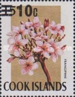 [Flowers Stamps of 1967 Surcharged, type EI3]