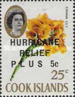 """[Issue of 1967 Overprinted """"HURRICANE RELIEF - PLUS"""", type QFT4]"""