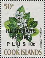 """[Issue of 1967 Overprinted """"HURRICANE RELIEF - PLUS"""", type QFT5]"""