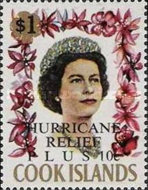 """[Issue of 1967 Overprinted """"HURRICANE RELIEF - PLUS"""", type QFT6]"""