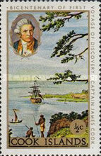 [The 200th Anniversary of Captain Cook's First Voyage of Discovery, type QFV]