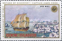 [Airmail - The 200th Anniversary of Captain Cook's First Voyage of Discovery, type QFZ]
