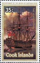 [The 200th Anniversary of the Death of Captain James Cook, 1728-1779, type RNK]