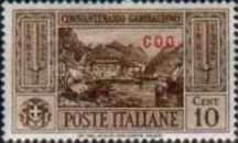 """[Italian Postage Stamps No. 360-369 Overprinted """"COO"""", tyyppi K]"""