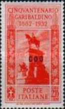 """[Italian Postage Stamps No. 360-369 Overprinted """"COO"""", tyyppi Q]"""