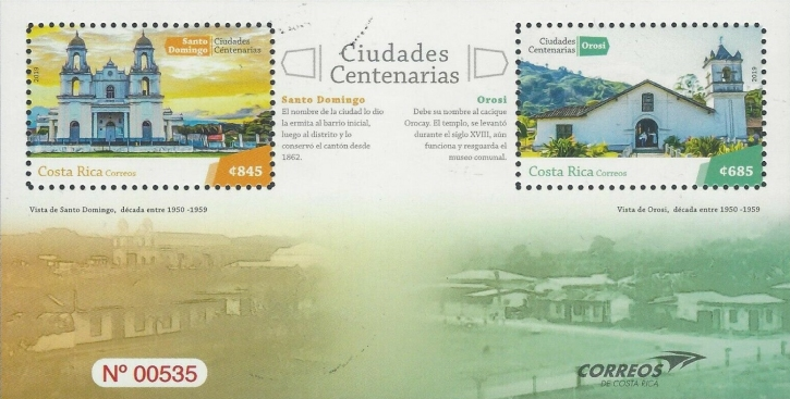 [The 100th Anniversary of the City of Santo Domingo & the City of Orosi, type ]