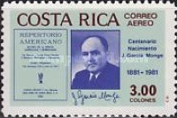 [Airmail - The 100th Anniversary of the Birth of Joaquin Garcia Monge, type ABC]