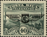 "[Airmail - Telegraph Stamp Overprinted with Wings inscribed ""CORREO CR AEREO"", type CB13]"