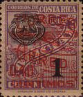 "[Airmail - Surcharged ""CORREO 1930 AEREO"", with Bleriot XI Airplane and New Value, type DL2]"