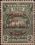"[Airmail - Fiscal Stamps, Arms Design - Inscribed ""TIMBRE 1929"", Surcharged ""Habilitado 1931 Correo Aereo"" and New Value, type DN]"