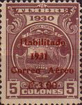"[Airmail - Fiscal Stamps, Arms Design - Inscribed ""TIMBRE 1929"", Surcharged ""Habilitado 1931 Correo Aereo"" and New Value, type DN1]"