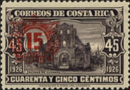 [Issue of 1926, Church Ruins, variously Surcharged