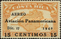 [Airmail - Pan-American Aviation Day - Surcharged
