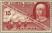 [Airmail - The 500th Anniversary of Isabella the Catholic, type HE]