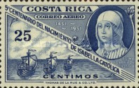 [Airmail - The 500th Anniversary of Isabella the Catholic, type HE2]