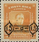 """[Airmail - Franklin D. Roosevelt - Surcharged """"15 15"""" within Ornaments, type HF2]"""