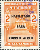 [Airmail - Fiscal Stamps (but without Surcharge) Overprinted HABILITADO PARA CORREO AEREO, type IG11]