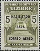 [Airmail - Fiscal Stamps (but without Surcharge) Overprinted HABILITADO PARA CORREO AEREO, type IG12]