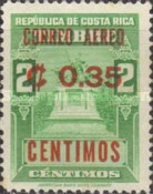 [Airmail - Fiscal Stamps Overprinted CORREO AEREO and Surcharged with New Value for Postal Use, type IG3]