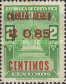 [Airmail - Fiscal Stamps Overprinted CORREO AEREO and Surcharged with New Value for Postal Use, type IG5]