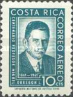 [Airmail - The 100th Anniversary of the Birth of Miguel Obregon Lizano, 1861-1935, type KQ]