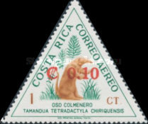 [Unissued Animal Designs of Issue of 1963 Surcharged, type LV]