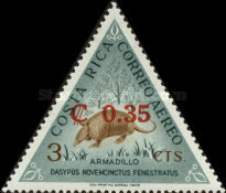 [Unissued Animal Designs of Issue of 1963 Surcharged, type LX]