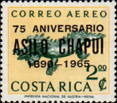 [Airmail - The 75th Anniversary of Chapui Hospital - Issue of 1963 Surcharged