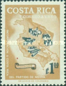 [Airmail - Incorporation of Nicoya District, type NQ]