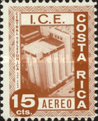[Airmail - Costa Rican Electrical Industry, type OE]