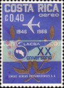 [Airmail - The 20th Anniversary (1966) of LACSA (Costa Rican Airlines), type PL]