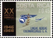 [Airmail - The 20th Anniversary (1966) of LACSA (Costa Rican Airlines), type PM]