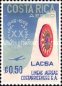 [Airmail - The 20th Anniversary (1966) of LACSA (Costa Rican Airlines), type PN]