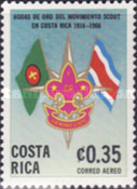 [Airmail - The 50th Anniversary (1966) of Scout Movement in Costa Rica, type PQ]